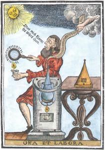 From Medicinisch Chymisch Und Alchemistische Oraculum Ulm 1755, Alchemical And Hermetic Emblems 1